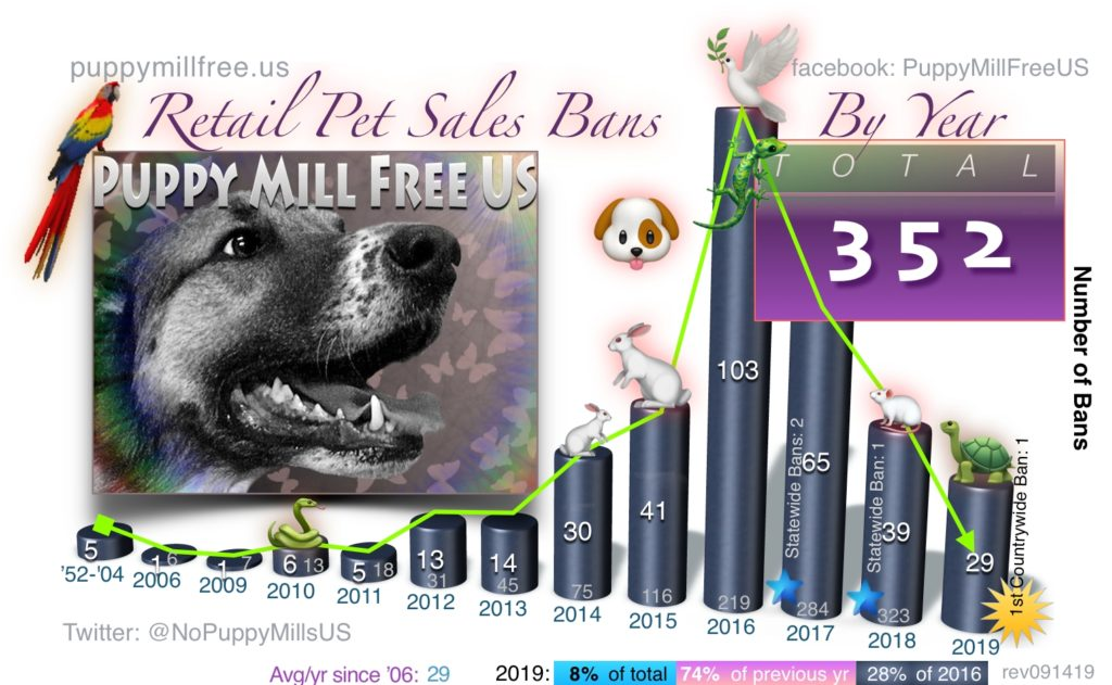 Pet Sale Bans by Year
